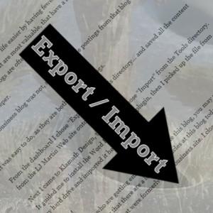 Export Import Blog Combining
